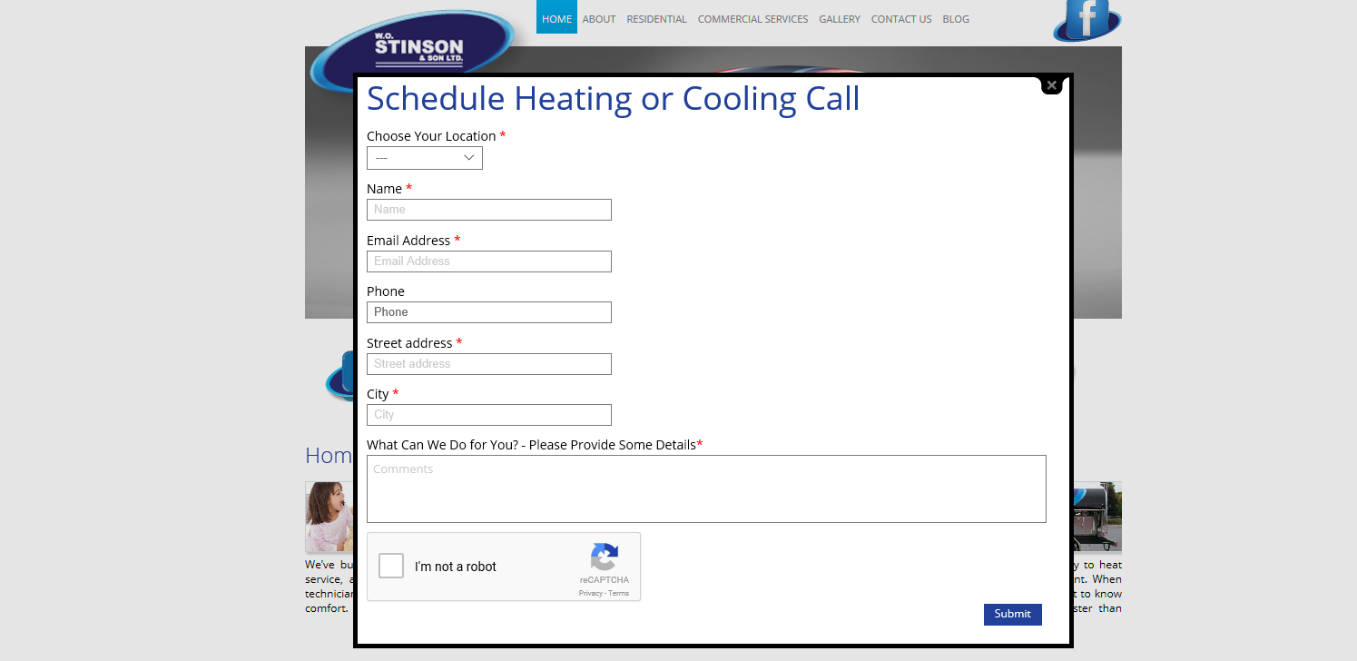 HVAC, Stinson, Heating, Cooling, Online tool