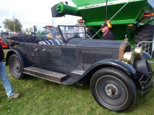 Showing off the 1924 Packard at the Metcalfe Fair Hot Rod and Classic Car Show